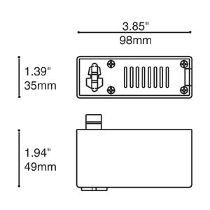 Adaptateur de rail basse tension 12V
