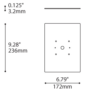 PUR (3430) SURFACE MOUNTING PLATE
